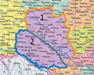 Карта бурение скважин в Виннице и Винницкой области
