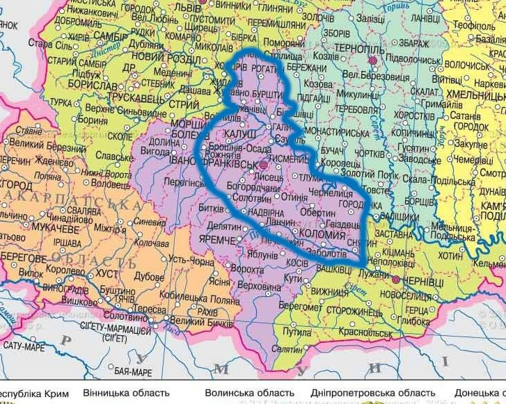 Карта буріння свердловин на воду в Івано-Франківську та Івано-Франківській області