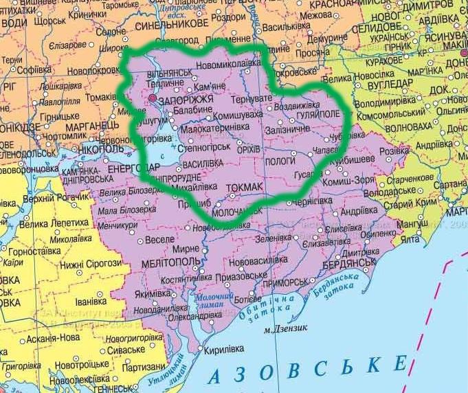 карта бурения скважин в Запорожье