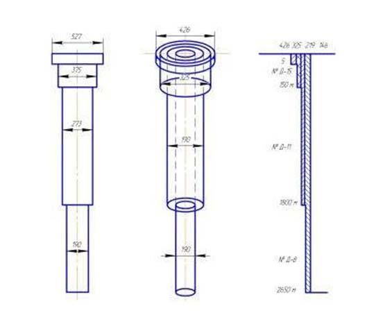 конструкция скважин 3 колоны